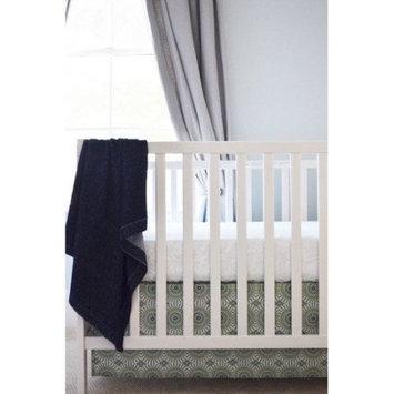 Oliver B Navy Pinwheel Crib Skirt
