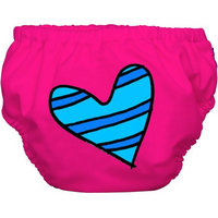 Winc Design Limited Charlie Banana Extraordinary Training Pants, Blue Petit Coeur on Hot Pink
