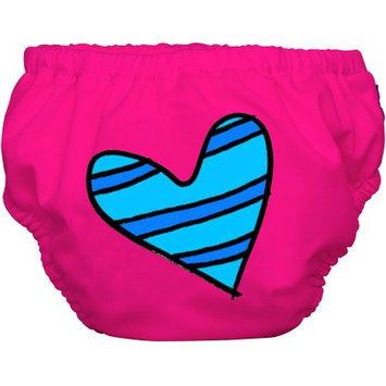 Winc Design Limited Charlie Banana Extraordinary Training Pants, Blue Petit Coeur on Hot Pink