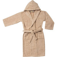 Blue Nile Mills Kids 100% Egyptian Cotton Bath Robe Large, Taupe