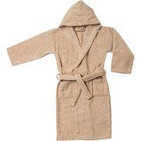 Blue Nile Mills Kids 100% Egyptian Cotton Bath Robe Small/Medium, Taupe