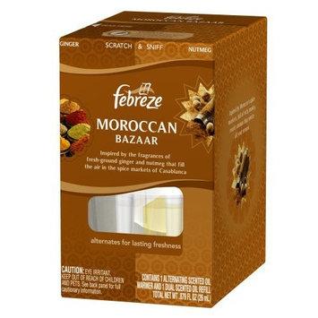 Febreze NOTICEables Dual Scented Oil, Moroccan Bazaar Starter Kit, (Pack of 6)