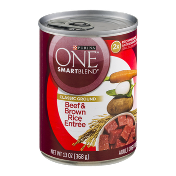 PURINA ONE® SmartBlend Adult Dog Food Classic Ground Beef & Brown Rice Entree