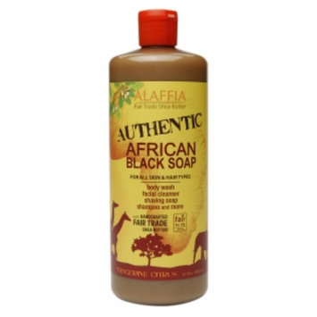 Alaffia Authentic African Black Soap, Tangerine Citrus, 32 fl oz