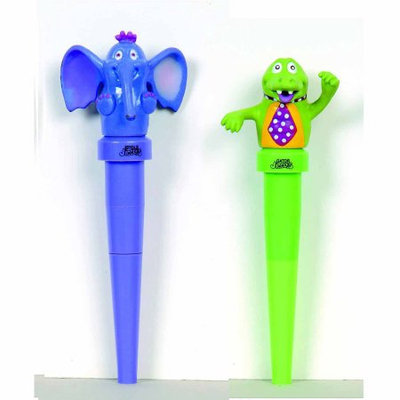 Abilitations Integrations Jigglers Massager Elephant and Gator Chewable Oral Massager, Pair of 2