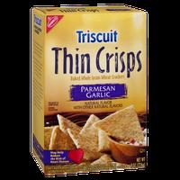 Nabisco Triscuit Thin Crisps Parmesan Garlic Baked Whole Grain Wheat Crackers