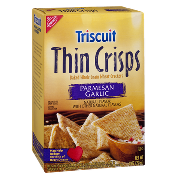 Nabisco Triscuit Thin Crisps Parmesan Garlic Baked Whole Grain Wheat Crackers