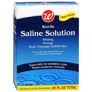 Walgreens Sterile Saline Solution Twin Pack
