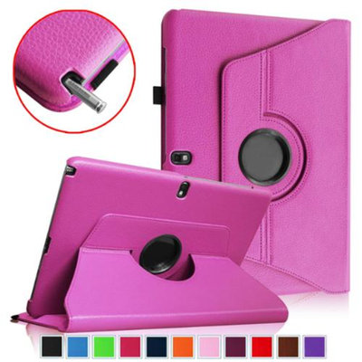 Fintie Vegan Leather Rotating Case Cover for Samsung Galaxy Note Pro 12.2 & Tab Pro 12.2 Tablet, Violet