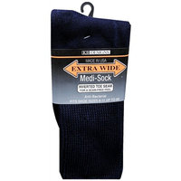 Extra Wide Medical Socks Mens Navy