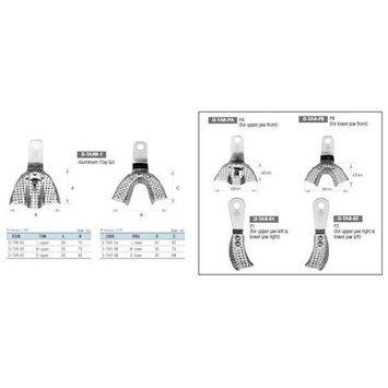 Osung TARZ10 Dental Impression Tray Set, Regular, Aluminum (Pack of 10)