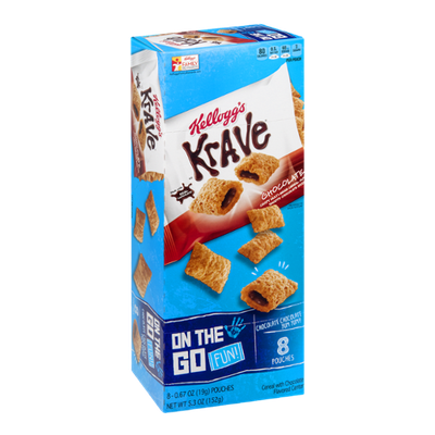 Kellogg's On the Go Fun! Krave Pouches - 8 CT
