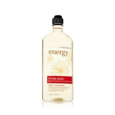 Bath Body Works Aromatherapy Energy Orange Ginger 10 oz Body Wash Foam Bath