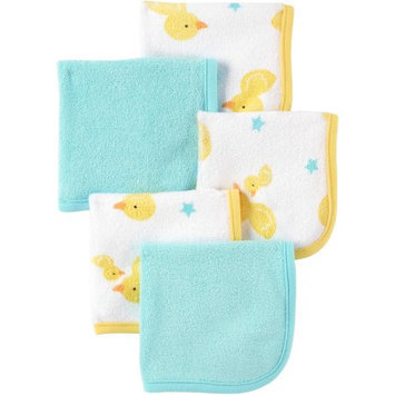 Child Of Mine by Carter's Newborn Baby Boy or Girl Unisex Washcloths, 5-Pack