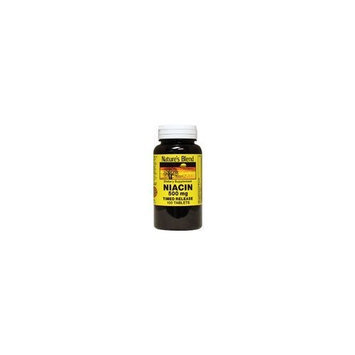 Nature's Blend Niacin Timed Release 500 mg 500 mg 100 Tabs