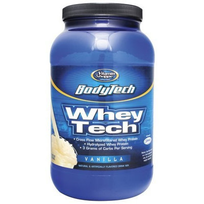 BodyTech - Whey Tech Vanilla, 2 lb powder