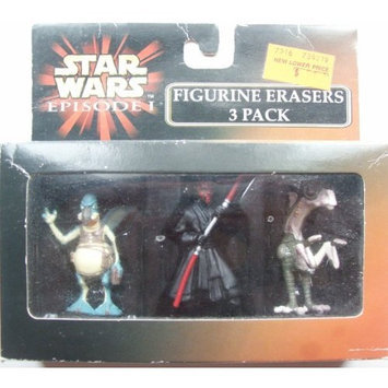 Star Wars Ep 1 Figurine Erasers 3 Pack with Watto, Darth Maul & Sebulba