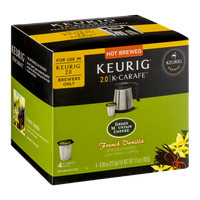 Green Mountain Coffee French Vanilla Light Roast Keurig 2.0/K-Carafe Packs - 4 CT