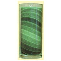 Aloha Bay Candle, Gem Tone Unscented Jar, Green 11 oz