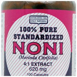 Only Natural Pure Standardized Noni - 620 mg - 100 Capsules