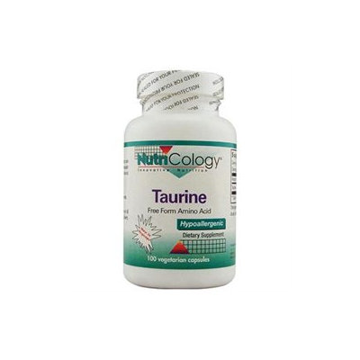 Nutricology - Taurine 500 mg. - 100 Vegetarian Capsules