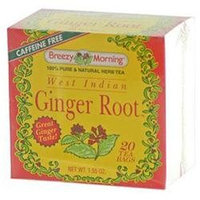 Breezy Morning Teas 0406538 West Indian Ginger Root - 20 Tea Bags