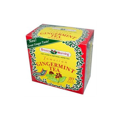 Breezy Morning Teas Jamaican Gingermint 20 Tea Bags