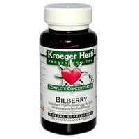 Kroeger Herbs - Complete Concentrate Bilberry 50 mg. - 90 Vegetarian Capsules