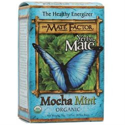 The Mate Factor Organic Yerba Mate Mocha Mint - 20 Tea Bags