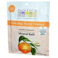 Aura Cacia Aromatherapy Mineral Bath Relaxing Sweet Orange - 2.5 oz