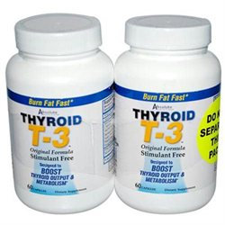 Absolute Nutrtion Absolute Nutrition Thyroid T-3 - 60 Capsules