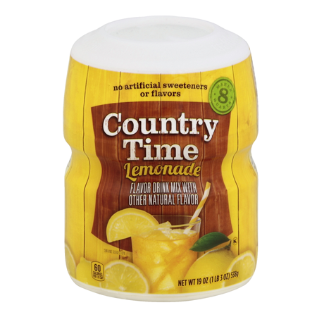 COUNTRY TIME Lemonade Sugar Sweetened Powdered Soft Drink Cannister