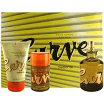 Curve By Liz Claiborne For Men. Gift Set (Cologne Spray 4.2 Oz + Skin Soother 4.2 Oz + Deodorant Stick 2.6 Oz ).