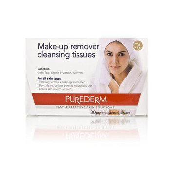 Purederm Make-Up Remover Cleansing Tissues 30 Tissues