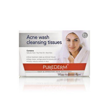 Purederm Acne Wash Cleansing Tissues 30 Tissues
