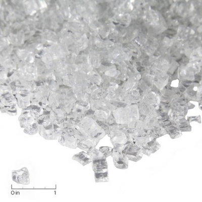 Real Flame Fire Glass-20 lb. Ice Clear Chips
