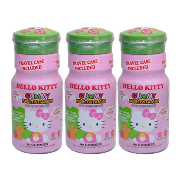 Hello Kitty Gummy Multivitamin, 3 Pack, 180 ea