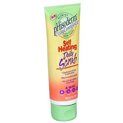 pHisoderm Clear Confidence Self Heating Daily Scrub, 4 oz (113 g)