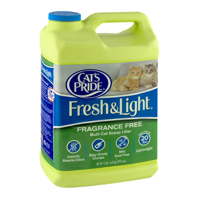 Cat's Pride Fresh & Light Fragrance Free Multi-Cat Scoop Litter