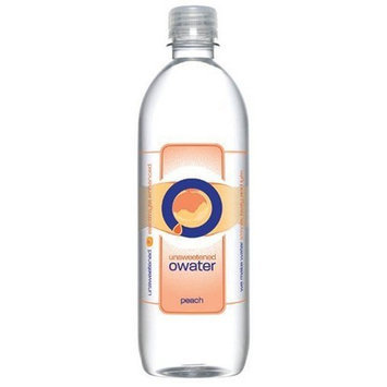 O Water O Ultra Premium Water, Peach, 20 Ounce Bottle (Pack of 12)