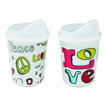 Sugarbooger Sippy Cups Set of 2, Peace Love