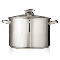 Ecolution Pure Intentions Stainless Steel 16 qt. Stock Pot with Lid ESTL-4516