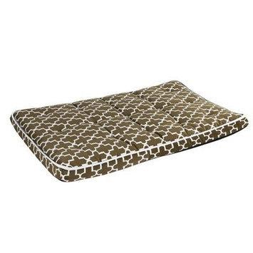 Bowsers Luxury Pet Crate Mattress Chocolate Bones Microvelvet, Size: Large