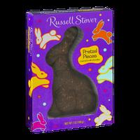Russell Stover Pretzel Pieces Milk Chocolate Rabbit