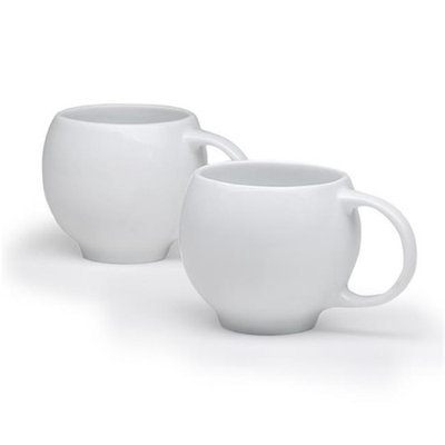 Maia Ming Designs Eva Teacups Glossy White - Set of 2