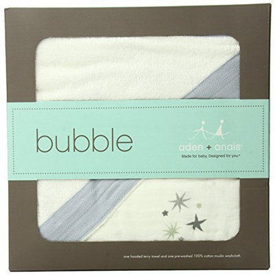 aden + anais Muslin Hooded Towel & Washcloth Set, Twinkle
