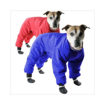 Muttluks Red Reversible Dog Snowsuit Size 16