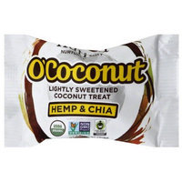 Nutiva O'Coconut Hemp & Chia Lightly Sweetened Coconut Treat, .5 oz, (Pack of 24)