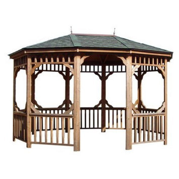 Heartland Bayview 12x16 Oval Gazebo Without Floor 195051