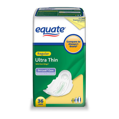 Equate Pads Ultra Thin Regular